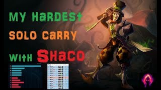 Shaco 1v5 Carry in Plat-Diamond [League of Legends] Full Gameplay - Infernal Shaco