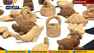 Training in Clay Art | Improving Skills in School Kids | Organized by AP Handicrafts | at Vijayawada