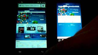 Nokia Lumia 800 vs Samsung Galaxy S II Internet Browser