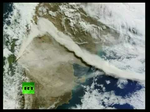 More stunning views of Chile volcano eruption, ash cloud from space