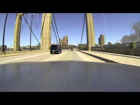 GoPro 3 Driving Downtown Minneapolis Minnesota