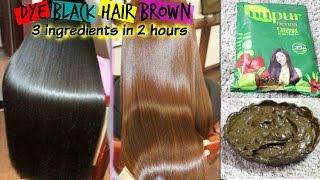 Best way to apply HennaMehendi  DIY Black to Brown hair Get silky shiny Hair in 2 hours