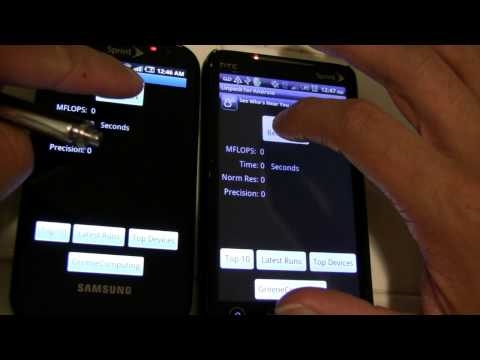 SamSung EPIC 4G vs HTC EVO 4G Speed Test