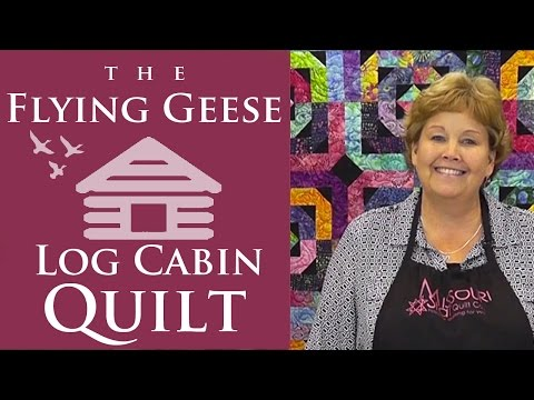 The Flying Geese Log Cabin Quilt: Easy Quilting Tutorial with Jenny Doan of Missouri Star Quilt Co