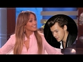 Jennifer Lopez Wants to Date Harry Styles? Gets GRILLED About Drake Relationship on Ellen -