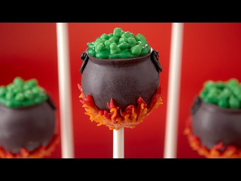 CAULDRON CAKE POPS - NERDY NUMMIES