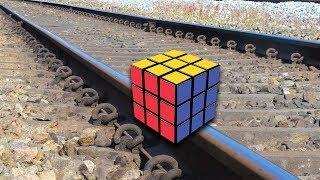 Train Vs Rubik's Cube EXPERIMENT