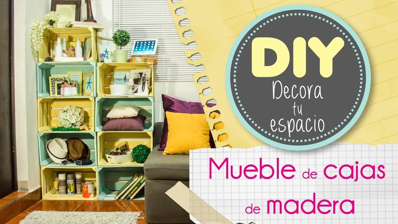 Como Hacer Un Mueble Para Ropa Con Cajas De Carton Cddigi Com # Muebles De Jabas De Madera