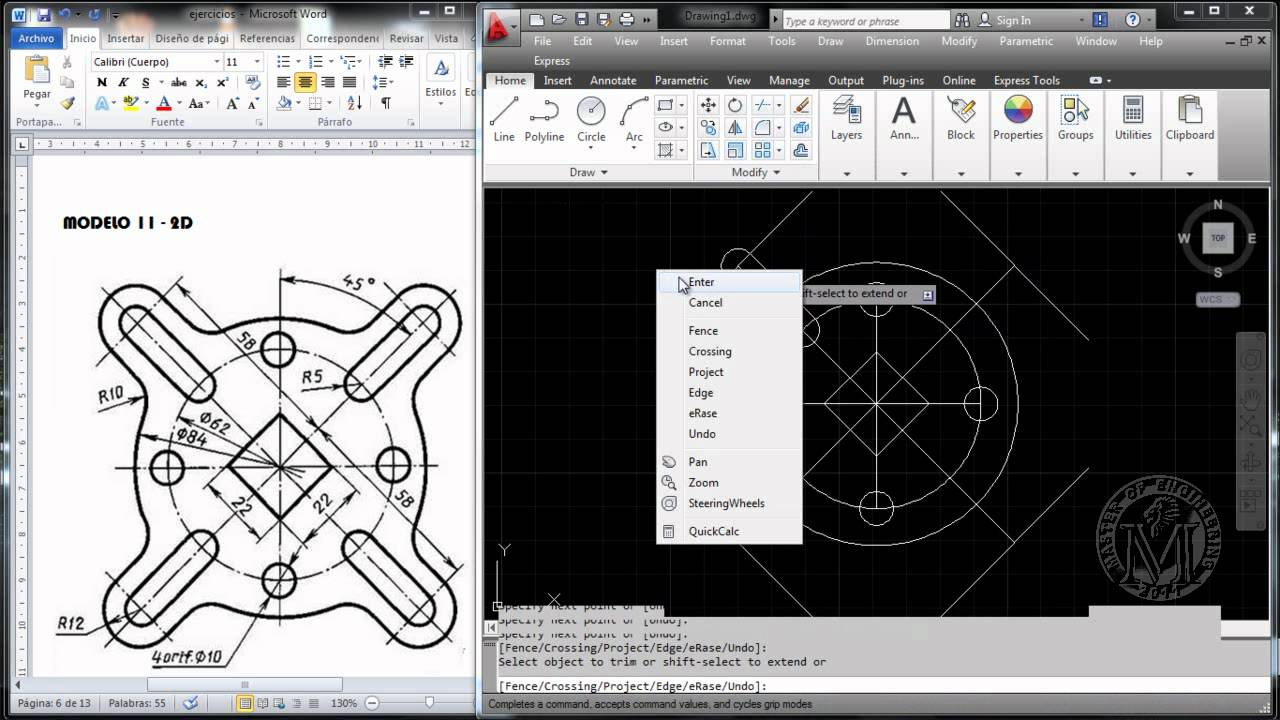 Drawing Lines In Autocad Using Coordinates : Master of engineering autocad modelo d youtube