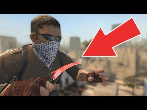 SHE CHALLENGED ME FOR A KNIFE - CS:GO Competitive