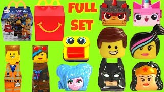 Full Set of The Lego Movie 2 McDonald's Happy Meal Toys 2019 with Batman and Wonder Woman