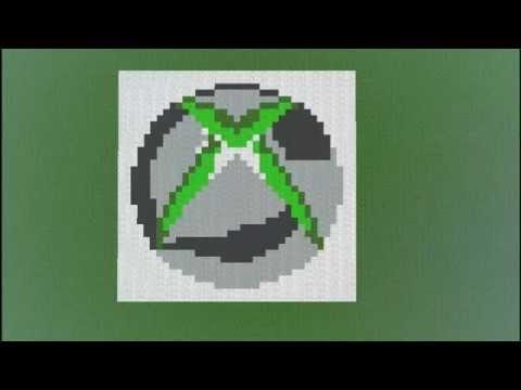 Xbox 360 Logo Speed Art Minecraft - YouTube