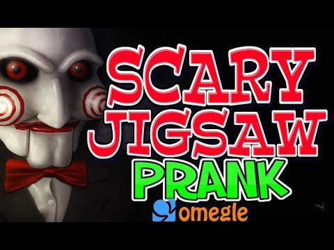 Scary Jigsaw Killer Prank Omegle (omegle Scare Pranks) video