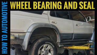 How to Replace the Rear Wheel Bearings and Axle Seals on 1995-2002 Toyota 4Runner