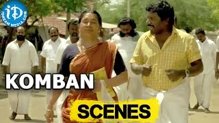 Komban Movie || Karunas, Kovai Sarala Scene