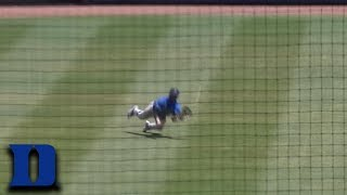 Duke's Kennie Taylor Makes Highlight-Reel Catch In The Outfield