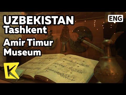 【K】Uzbekistan Travel-Tashkent[우즈베키스탄 여행-타슈켄트]민족영웅 아미르 티무르 박물관/Amir Timur Museum/National hero/Turks