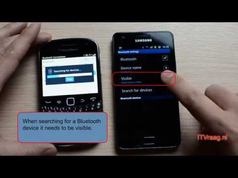 Pairing bluetooth: Samsung Galaxy S2 & Blackberry Bold 9900