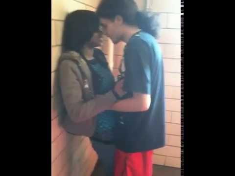 Kissing a random black girl (=