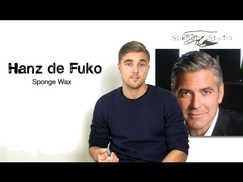 George Clooney how to styke men's Hair - KMS Hair Play Sea Salt Spray and Sponge wax