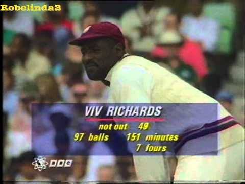 Viv Richards FINAL TEST INNINGS - 60 vs England 1991