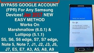 2017 Bypass samsung google verification without otg (A, J & S)SERIES