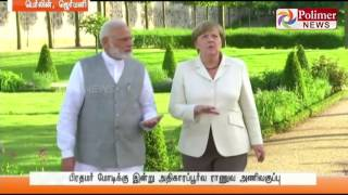 PM Modi Meets German PM and talks on Investments and Terrorism | Polimer News