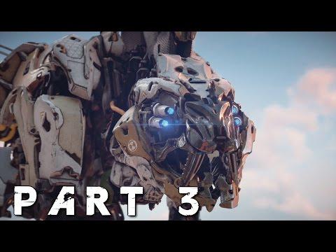 HORIZON ZERO DAWN Walkthrough Gameplay Part 3 - Sawtooth (PS4 Pro)