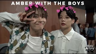 Amber interactions with male idols lol
