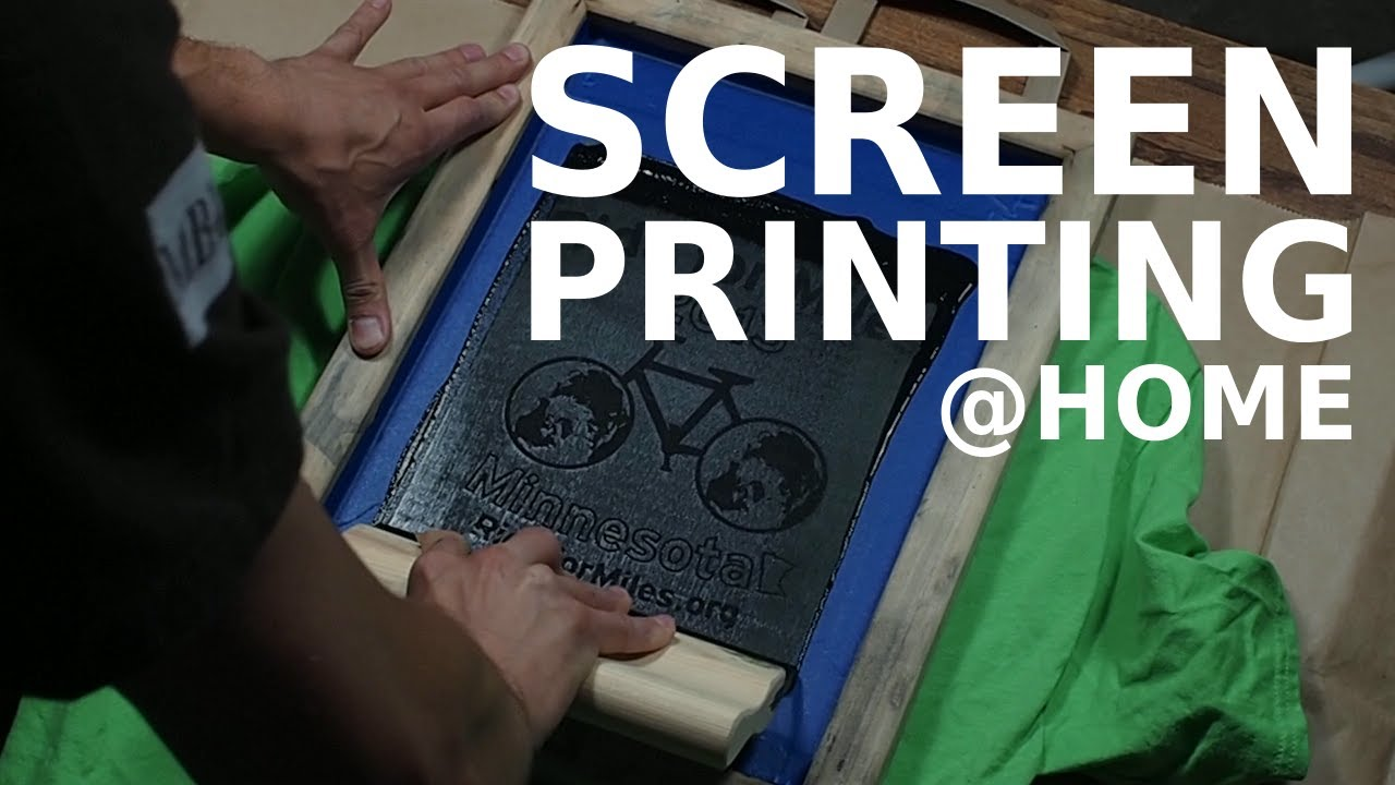 Screen printing at home youtube for Screen print t shirts at home