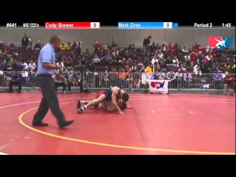 FILA JRFS: 60 KG: Final - Mark Grey (Blair Academy) vs Final Cody Brewer (Oklahoma Elite)