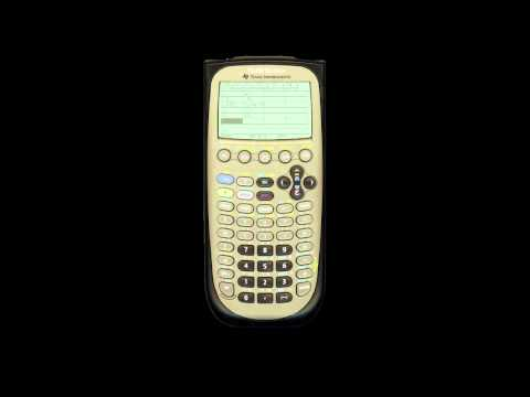 Graphing and table function on the TI-89