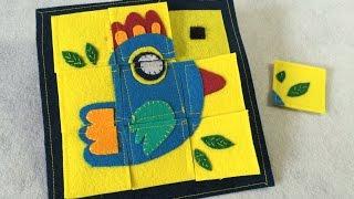 Tự làm trò chơi ghép hình cho bé - DIY - Idea for kids - Felt jigsaw puzzle