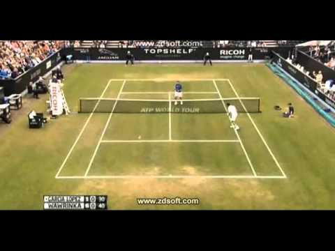 Wawrinka's great point against García López Semifinal Hertogenbosch 2013