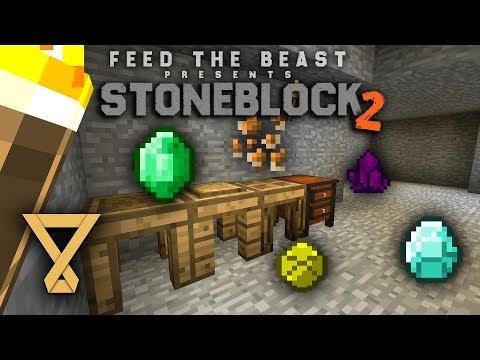 Erste Werkzeuge & Resourcen - FTB Stoneblock 2 #4 [Let's Play] [Deutsch] [German]