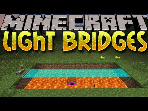 Minecraft Mods: LIGHT BRIDGES! Futuristic Bridges & More! (1.6.2)