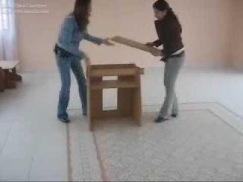 Muebles de cart n cardboard furniture ensamble - Muebles de carton ...