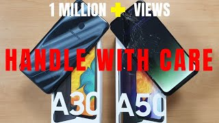 Samsung Galaxy A30 vs A50 Durability Test - Don't DROP It ! | Unboxing | Hindi
