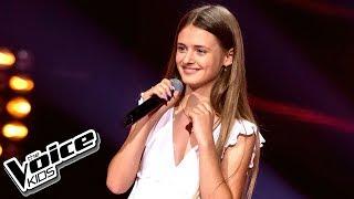 """Julia Chmielarska - """"Against All Odds"""" - Przesłuchania w ciemno - The Voice Kids 2 Poland"""