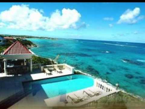 ANGUILLA CARIBBEAN OCEAN FRONT INFINITY EDGE POOL HOME FOR SALE