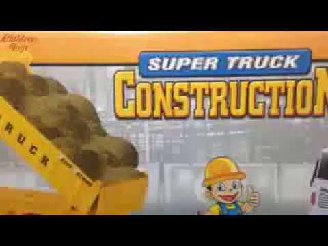 Dump Truck Video For Kids ❤ Unboxing Toy Super Truck Construction For Children ❤ Heavy Machine Truck