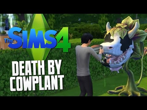 The Sims 4 - Death By Cow Plant - The Sims 4 Funny Moments #24 video