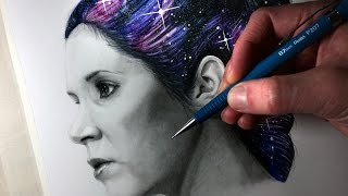 Drawing Carrie Fisher - Tribute