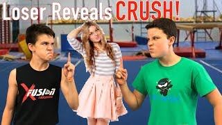 CRUSH REVEAL! Back flip battle! Loser Reveals Crush!