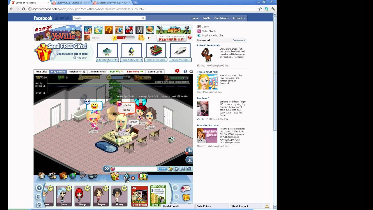 get naked on yoville