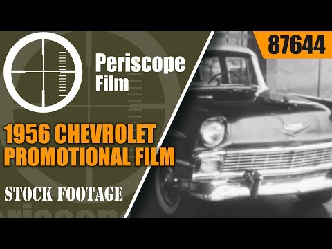 1956 CHEVROLET PROMOTIONAL FILM w/ STUNT DRIVER JOIE CHITWOOD 87644