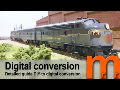 Tutorial - Digital conversion of EMD F7 dual motor with sound