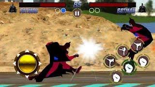 OMG! Batman Player vs Batman CPU at Desert  Superheros Fighting Game   Kids Gaming Playland