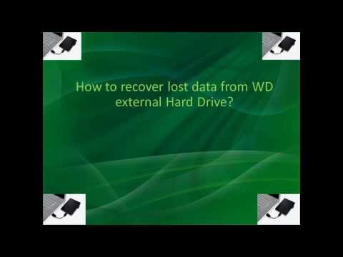 Recover lost files from WD external hard drive