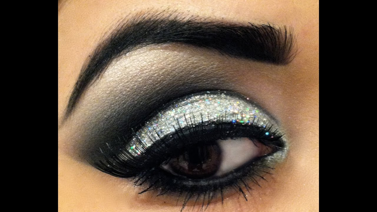 dramatic glitter smokey eye prom makeup youtube